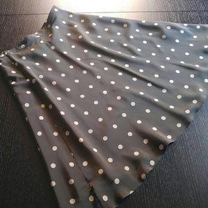 Banana Republic Brown silk skirt